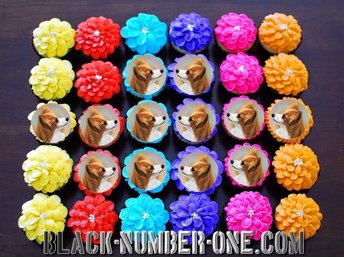 Papillon - Phalène tårtoblater - Tårtbild - Cupcake toppers - Kolvereid - Papillon - Phalène tårtoblater - Tårtbild - Cupcake toppers - Kolvereid