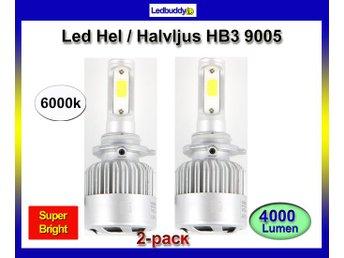 Hb3 9005 Led 4000 lumen 30w 6000k halvljus helljus headlight - Hudiksvall - Hb3 9005 Led 4000 lumen 30w 6000k halvljus helljus headlight - Hudiksvall
