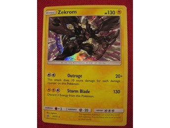 ZEKROM - 130 HP - RARE HOLO - POKEMON SHINING LEGENDS - 35/73