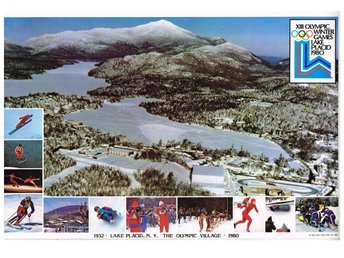 XIII OLYMPIC WINTER GAMES LAKE PLACID 1980 - OLYMPIC VILLAGE - Bordstablett