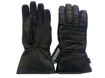 MC-Handskar Trofé Riding Retro Black Leather L.