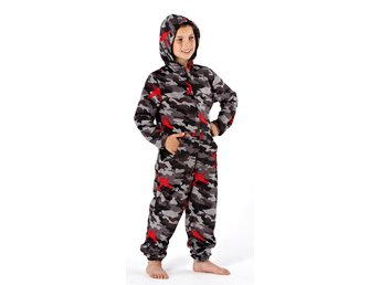 Childrens Fleece All In One Piece Jumpsuit Hooded Pajamas Pajama