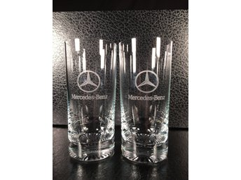 Mercedes Benz drinkglas 2st Nya!