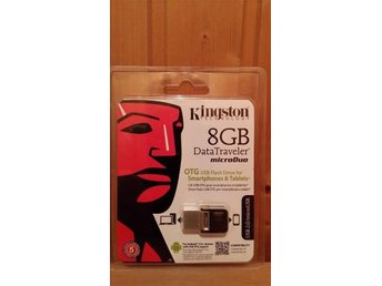 Kingston USB smart minne 8 GB både för dator och smartphones / tablets !