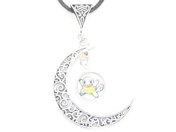 Pokemon Squirtle måne halsband / moon necklace