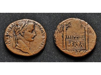 Tiberius, AE AS, Lugdunum.