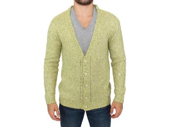 Green knitted cardigan sweater EU Size: M