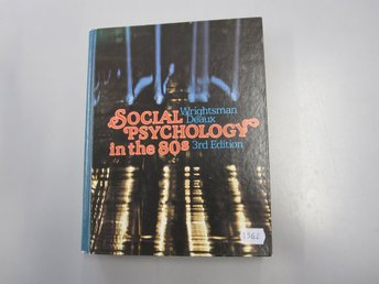 Social psychology in the 80s - 3rd edition - Wrightsman deaux