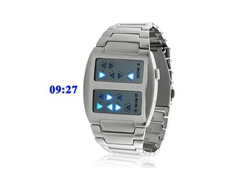 Templar Blue LED Binär Trendig Digital LED Klocka Armbandsur