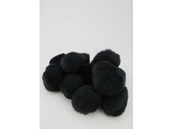 PomPoms svarta 40mm 12-pack