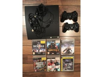 Playstation 3 med 6 spel