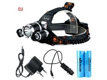 6000Lm CREE XM-L T6 + 2R5 LED Headlamp Headlight Rechargeable Head Torch EU