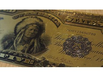$5 Gold Certificate * Indion Chief * Banknote