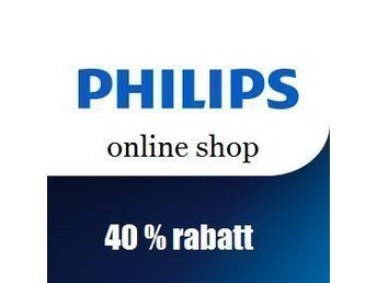 40 % rabatt Philips onlineshop
