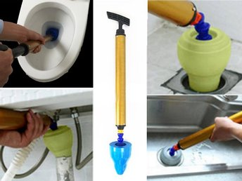 Drain Blaster High Pressure Air Pump Plunger Sink Pipe Clog Remover Cleaner Tool