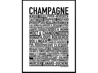 Affisch CHAMPAGNE,POSTER CHAMPAGNE