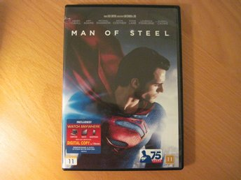 MAN OF STEEL med Henry Cavill, Amy Adams DVD (Svensk text)