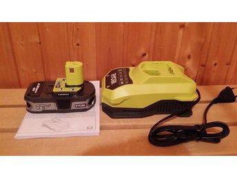 Ryobi batteri ONE 1.5 Ah 18V med SNABB-laddare, helt nytt - Umeå - Ryobi batteri ONE 1.5 Ah 18V med SNABB-laddare, helt nytt - Umeå