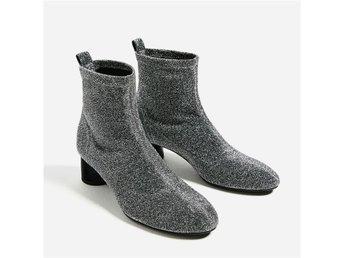 Boots stövlar fr Zara nya glitter silver slutsålda storlek 39 - Sparsör - Boots stövlar fr Zara nya glitter silver slutsålda storlek 39 - Sparsör