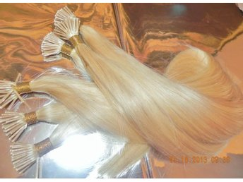 100 st ÄKTA REMY HÅR STICK HAIR 50 cm LÅNG #613 +100 ST MICKRORINGAR - Veinge - 100 st ÄKTA REMY HÅR STICK HAIR 50 cm LÅNG #613 +100 ST MICKRORINGAR - Veinge