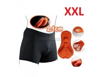 Cykelunderkläder Gel 3D Vadderade shorts Orange XXL