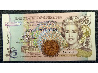 THE STATES OF GUERNSEY 5 POUNDS 1996 OVIKT