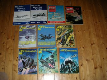 Military Aviation Review, Flying Review, Air International, Air Enthusiast -Flyg