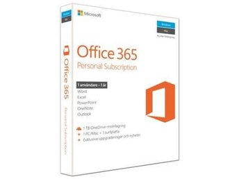 Microsoftr Office 365 Personal Swedish Nordic 1 PC/Mac + 1 Windows-surfplatta/iP