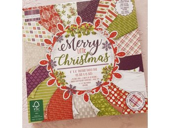 Scrapbookingpapper Merry little christmas