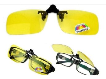 Polarized Day Night Vision Clip-on Flip-up Lens Glasses Yellow