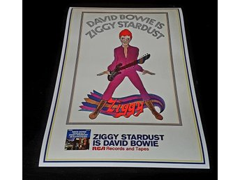 DAVID BOWIE ZIGGY STARDUST 1972 PHOTO POSTER