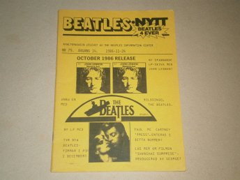 BEATLES-NYTT #79 (November 1986) - Fint Skick!
