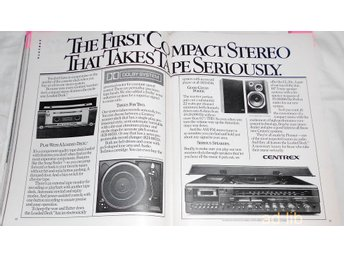 CENTREX THE FIRST COMPACT STEREO THAT TAKE TAPE, STOR TIDNINGSANNONS Retro 1978