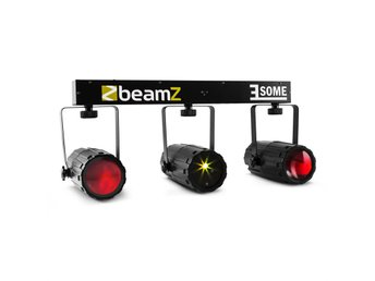 BeamZ 3-Some ljusset RGBW-LED multipoint laser mikrofon