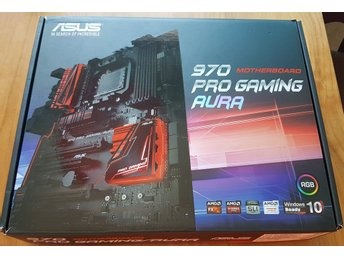 ASUS 970 Pro Gaming/Aura, Socket-AM3+, USB 3.1, M.2, RGB, Kvitto samt garanti