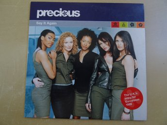 PRECIOUS Say it again Eurovision 1999 Storbritannien Singel CD