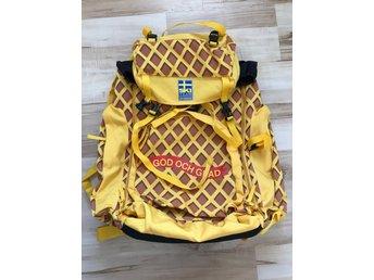 Stor ryggsäck med Cloetta kexchoklad mönster