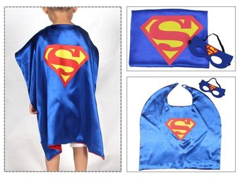 Mantel + Mask Stålmannen Superman - Fri frakt