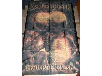six feet under double dead tygposter tygflagga death metal hårdrock
