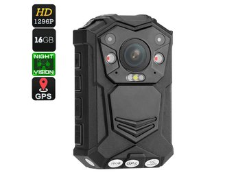 Police Body Camera - Night Vision, CMOS Sensor, 140-Degree Viewing Angle, IP65 W