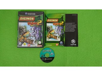Digimon Rumble Arena 2 Svensk quickstart KOMPLETT Gamecube Nintendo Game Cube