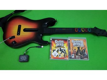 Guitar Hero Gitarr Med 2 Spel PS3 Playstation3 Playstation 3