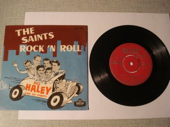 Bill Haley and his comets   EP från  1956 DECCA The Saints Rock´n Roll Vinyl