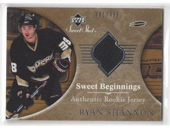 97. 2006-07 Sweet Shot #102 Ryan Shannon JSY RC - Sandared - 97. 2006-07 Sweet Shot #102 Ryan Shannon JSY RC - Sandared
