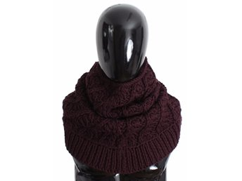 Dolce & Gabbana - Purple Wool Knitted Mens Warmer Scarf