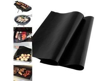2st Easy Clean BBQ Grill Mat Bake Non Stick Grill Mats Barbecue Pad Teflon Fiber