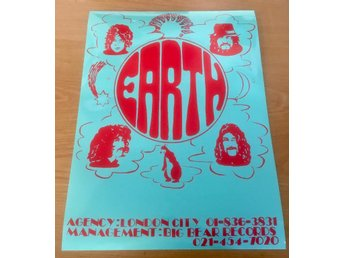 BLACK SABBATH EARTH 1968 PROMO POSTER PHOTO POSTER