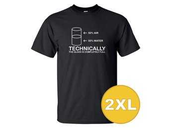 T-shirt Technically Full Svart herr tshirt 2XL