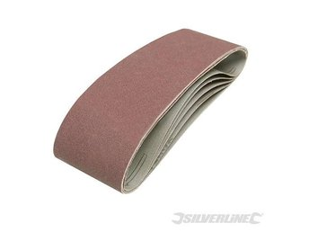 Silverline Sanding Belts 75 x 533mm 5pk 120 Grit belt sander
