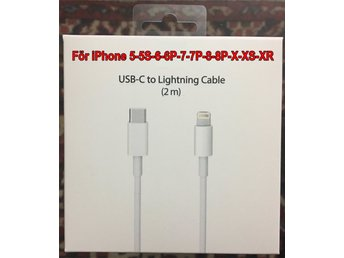 2m Type USB-C till Lightning Macbook till iPhone iPod Ipad till Macbook Plombera